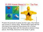 21 000 human genes is not too few