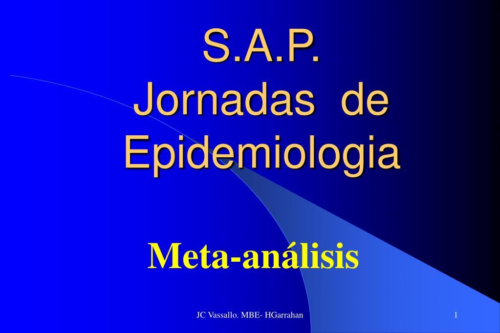 s a p jornadas de epidemiologia l.