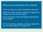 discussion questions for schools