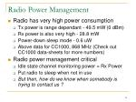 radio power management