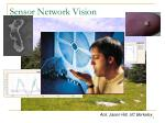 sensor network vision