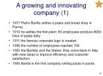 a growing and innovating company 1