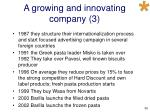 a growing and innovating company 3
