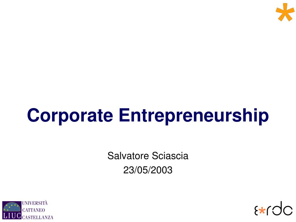 corporate entrepreneurship l.