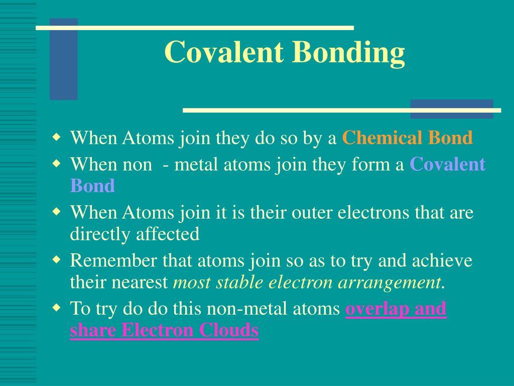 covalent bonding l.