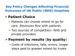 key policy changes affecting financial outcomes of uk public nhs hospitals