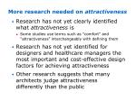 more research needed on attractiveness