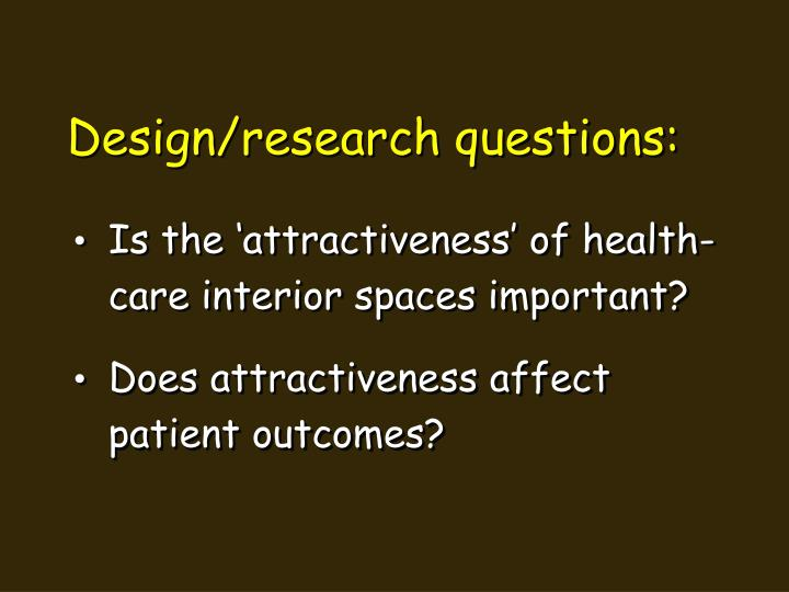 Design/research questions: