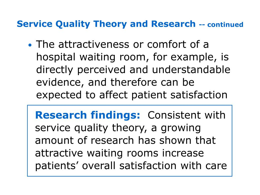 Service Quality Theory and Research