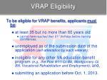 vrap eligibility