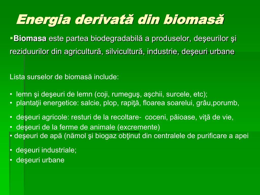 Energia derivată din biomasă