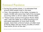 estimated population