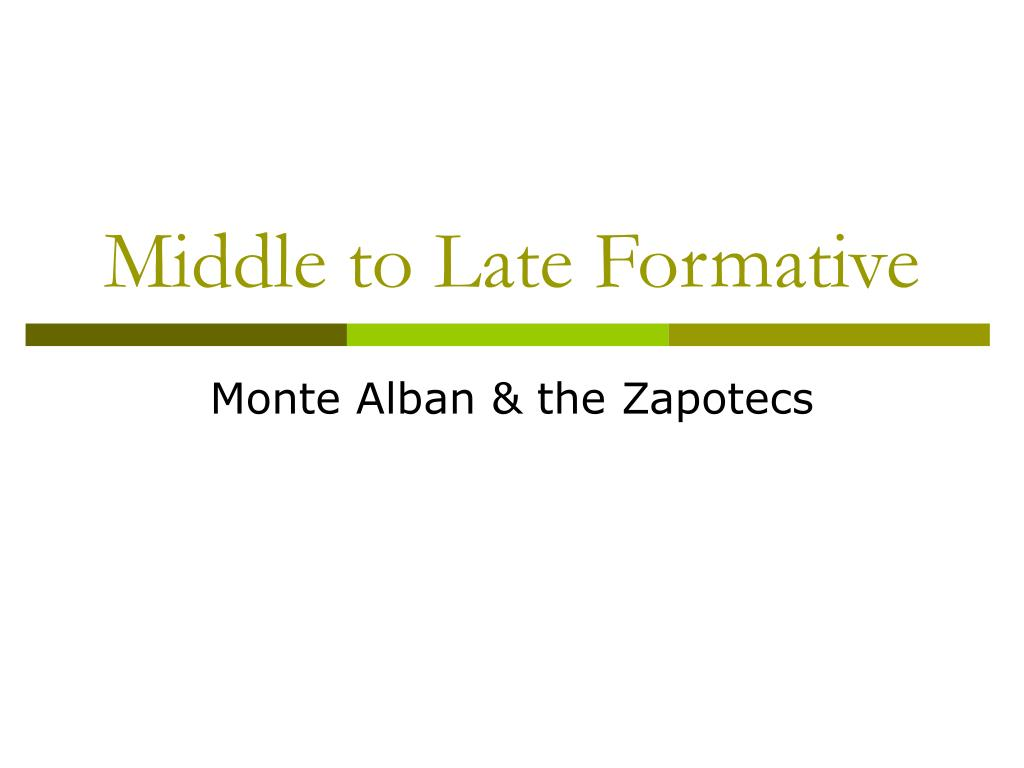 middle to late formative l.