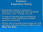 employer experience rating