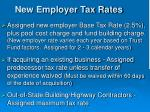 new employer tax rates