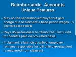 reimbursable accounts unique features