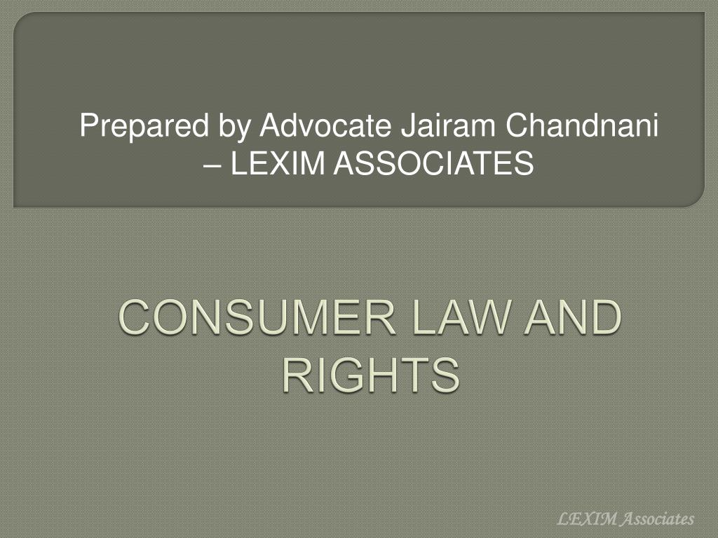 consumer law and rights l.