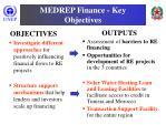 medrep finance key objectives