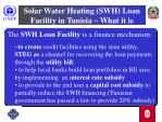 solar water heating swh loan facility in tunisia what it is