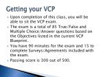 getting your vcp