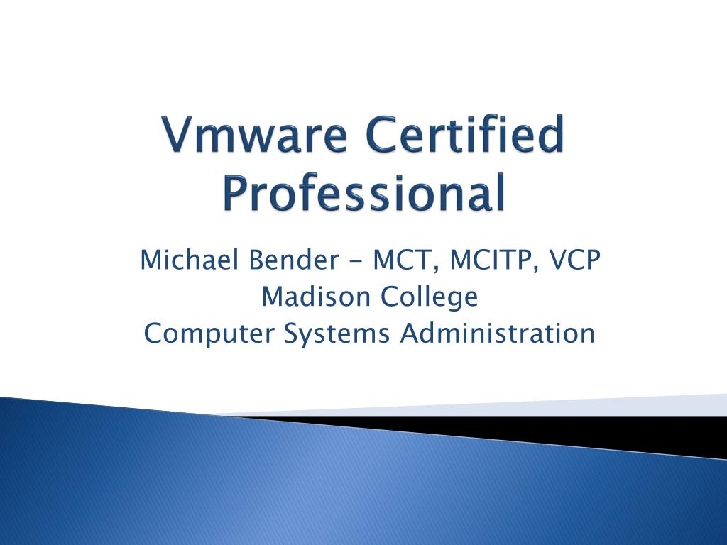 vmware certified professional l.