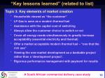 key lessons learned related to list