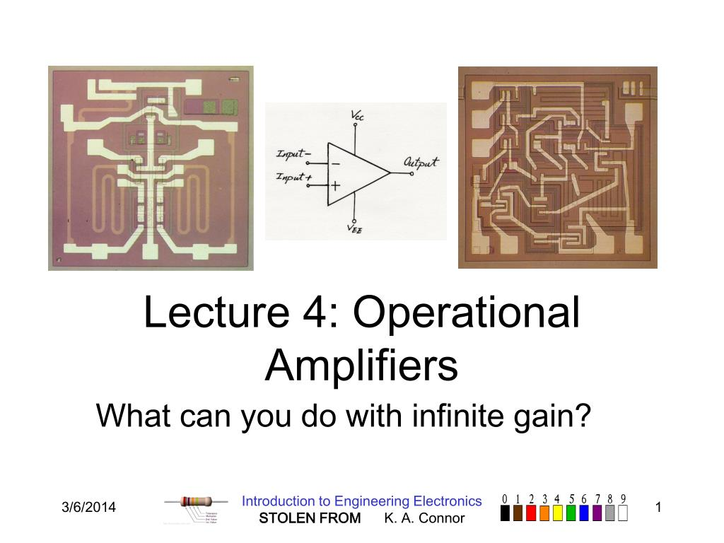 lecture 4 operational amplifiers l.