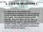 1 que es un sistema