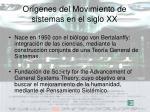 or genes del movimiento de sistemas en el siglo xx