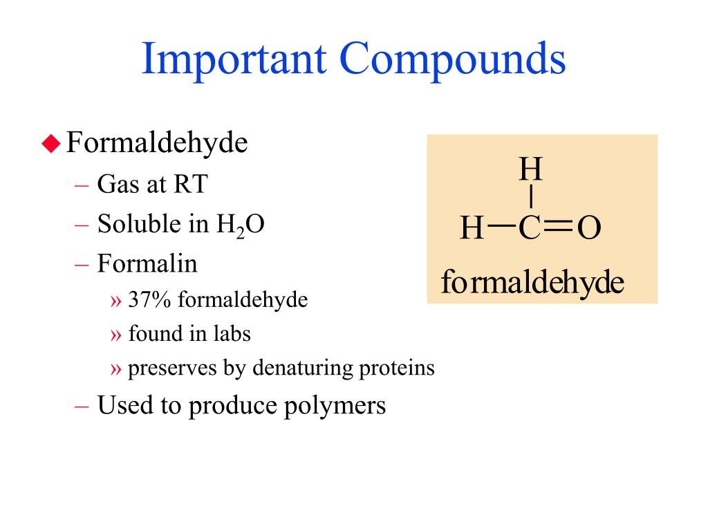 Important Compounds