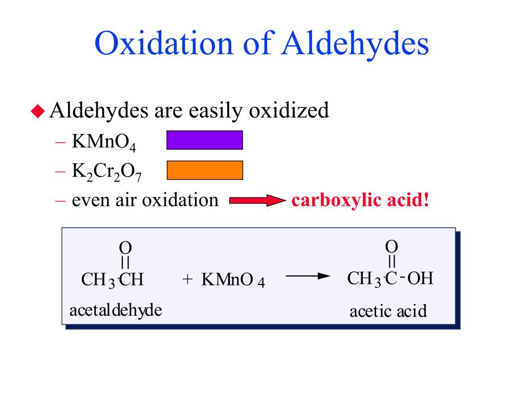 Oxidation of Aldehydes