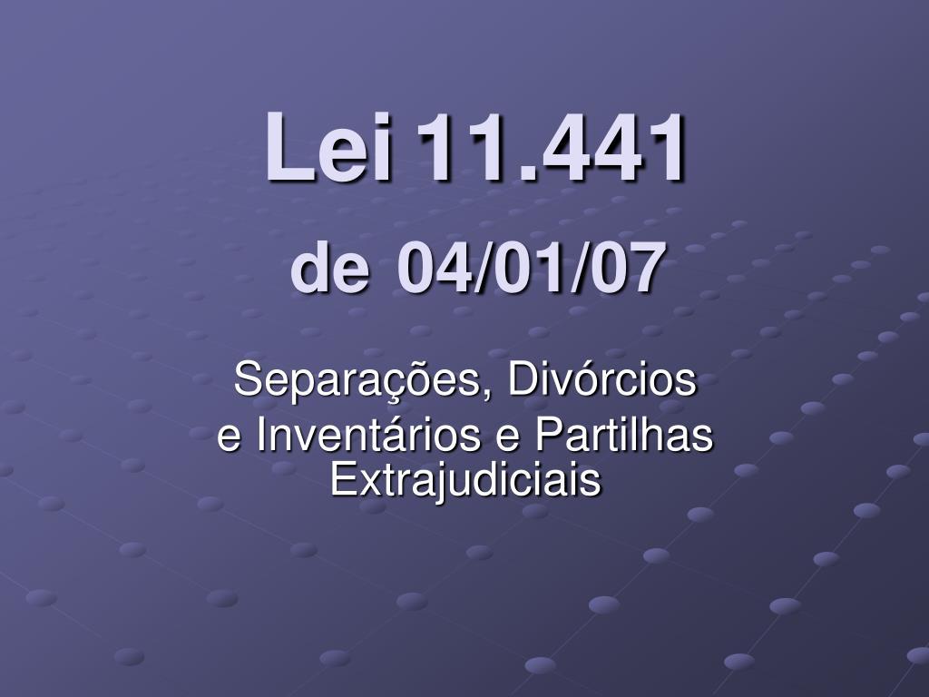 lei 11 441 de 04 01 07 l.