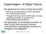 copenhagen a major failure