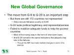 new global governance