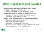 other successes and failures