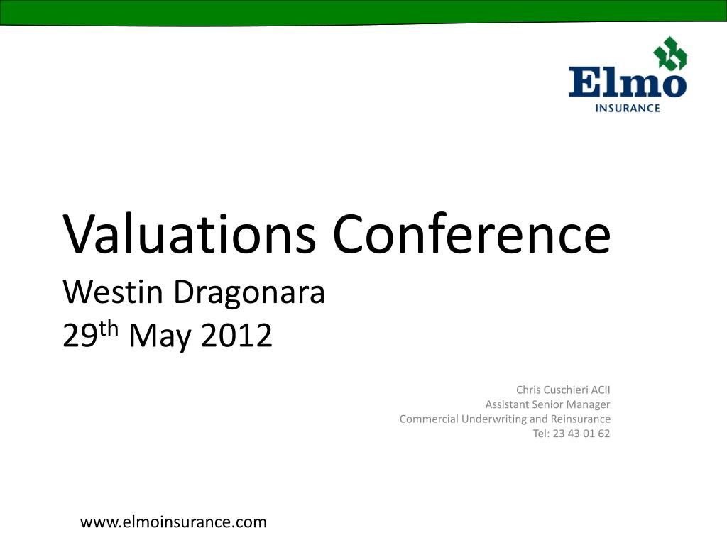 valuations conference westin dragonara 29 th may 2012 l.