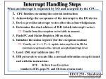 interrupt handling steps