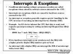 interrupts exceptions