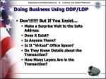 doing business using ddp ldp