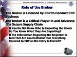 role of the broker