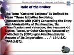 role of the broker25