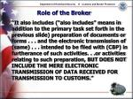 role of the broker26