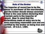 role of the broker27