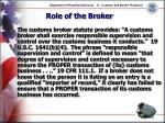 role of the broker28
