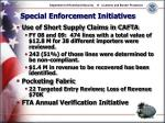 special enforcement initiatives