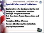 special enforcement initiatives17