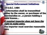 special enforcement initiatives18