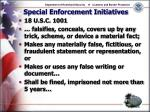 special enforcement initiatives19