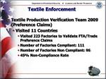 textile enforcement