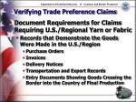 verifying trade preference claims10